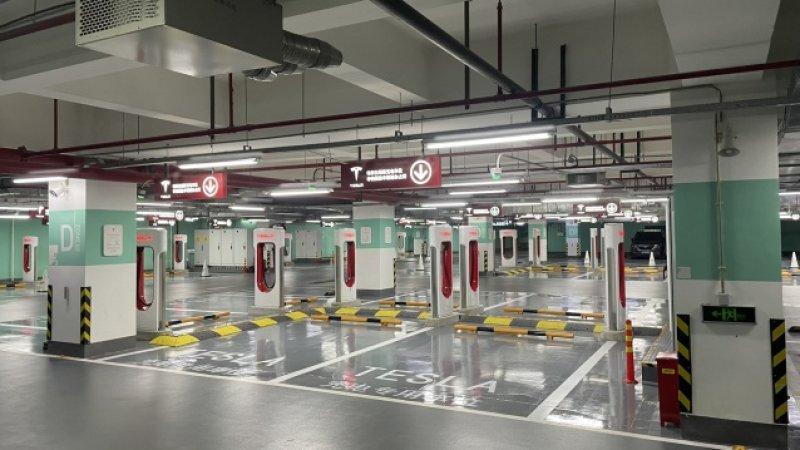 Tesla opens largest supercharger station in Shanghai